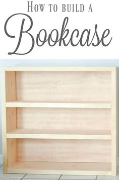 This easy DIY bookcase can be built in an afternoon AND can be changed to suit whatever dimensions you want.