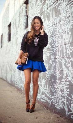 Look: Blue Skirt