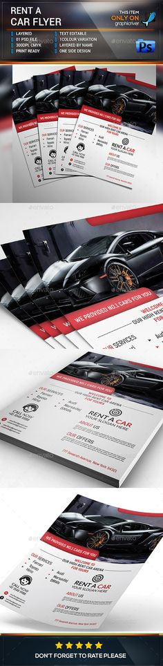 Rent A Car Business Flyer Business flyers, Text fonts and Vector - car sale flyer