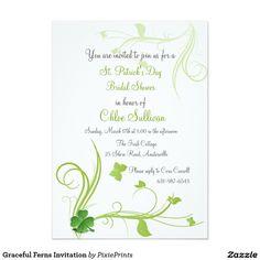 Graceful Ferns Invitation
