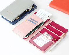 Anti Skimming Passport Wallet / Long e-Passport Cover Holder Boarding Pass Case