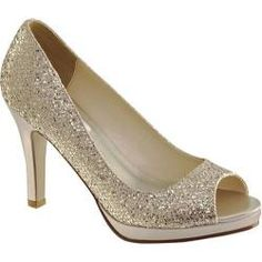 Women's Dyeables Sari Champagne Glitter - Overstock™ Shopping - Great Deals on Dyeables Heels