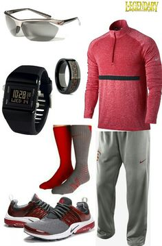 Mens sport athletic outfit