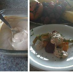 Maionese de tofu  1 xícara (chá) de tofu com consistência macia  1 limão siciliano (apenas o suco)  2 colheres (sopa) de azeite extra virgem  Sal e pimenta do reino à gosto