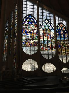 The stained glass in the church built on the spot where Joan of Arc was burned at the stake. See doors of Rouen at http://renovationbootcamp.com/when-is-a-door-an-adventure/