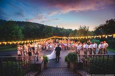 beautiful sunset ceremony