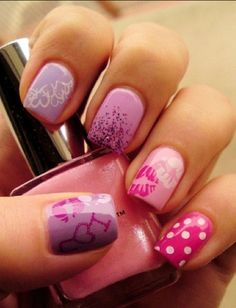 Pink nail designs Pinned on behalf of Pink Pad, the women's health mobile app with the built-in community