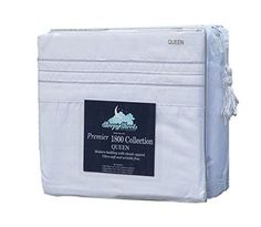 Sleepy Sheets Premier 1800 Collection 4pc Bed Sheet Set - Queen, White