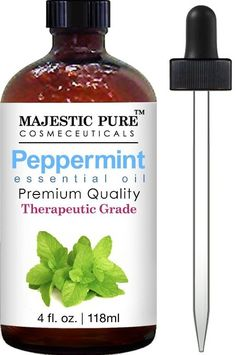 Majestic Pure Therapeutic Grade Peppermint Essential Oil, 4 Oz. With Dropper, 2016 Amazon Top Rated Fragrance  #Beauty