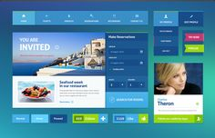 <p>A modern hotel UI kit with a wide variety of elements that will help you create cool designs and web layouts aimed at hotels, B&B's, vacation websites and other similar ventures.</p>