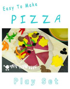 Make a fantastic realistic Pizza Play Food Set for hours of imaginative role play fun and learning.