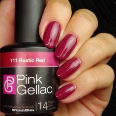 Pink Gellac 111 Rustic Red Gel-Nagellack via pinkgellac.de