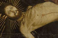 Le corps flagellé du Christ (détail); Enguerrand Quarton – La Pietà de Villeneuve-lès-Avignon, 1455 | Musée du Louvre