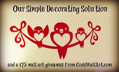 Sweet and Simple Redecorating with CozyWallArt Perfect for Christmas decorations! Circle Scarf, Giveaways, Coupon, Christmas Decorations, Cozy, Decorating, Wall Art, Simple, Sweet
