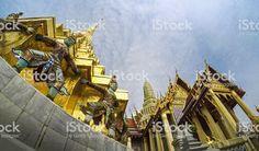 Wat Phra Kaew Bangkok Thailand Stock Photo & More Pictures of Ancient Bangkok Hotel, Bangkok Travel, Bangkok Thailand, Thailand Travel, Thailand Photos, Business Travel, More Pictures, Image Now, Louvre