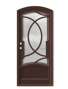 Olympia Eyebrow Single Narrow Frame with Curved Kick Panel Base Price: $2418 #donatellodoors