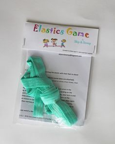 Elastics Game with Instructions Fun Active Sport by SkipandStomp