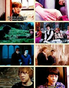 Harry Potter and Ron Weasley Harry Potter Quotes, Harry Potter Books, Harry Potter Love, Harry Potter Fandom, Harry Potter World, Slytherin, Hogwarts, Draco, Hermione