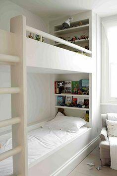 Mais 20 cm e você coloca prateleiras para livros, brinquedos e iluminação