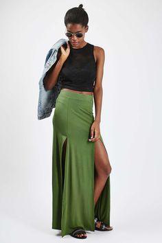 Double Split Maxi Skirt - Topshop