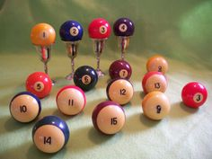 Four Bakelite Pool Billiard Balls by MargsMostlyVintage on Etsy, $12.00
