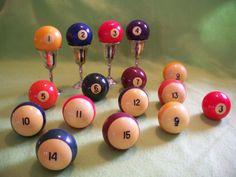 Four Bakelite Pool Billiard Balls by MargsMostlyVintage on Etsy, $12.00