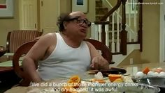 The new Danny DeVito-voiced Dr. Seuss movie The Lorax hits theaters this Friday, and ever since Danger outlined the first trailer I've been holding strong to the notion that Always Sunny's Frank Reynolds is the actual voice of the Lorax. Funny Supernatural Memes, Classic Quotes, Danny Devito, Sunny In Philadelphia, Going On A Date, It's Always Sunny, The Lorax, Baby Daddy, Popular Memes