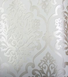 "Wallpaper project? | Silver/Gold Damask on Beige Background ""Nino"" 