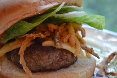 Making Miracles: #FoodieExtravaganza ~ Western Bacon Burgers with BBQ Mayo and Crispy Onion Strings