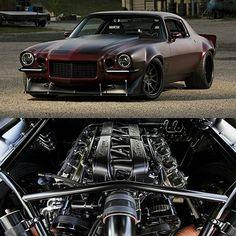 """Equipped"" 1971 Camaro! • Follow @menstaste • • Photo @dutchboys_hotrods • #1971 #chevy #camaro #autostylle"