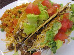 Classic Beef Tacos - homemade seasoning, lots of cumin, pretty good