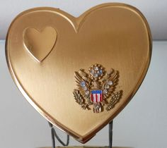 ~~Vintage Heart Shaped US Military Compact~~