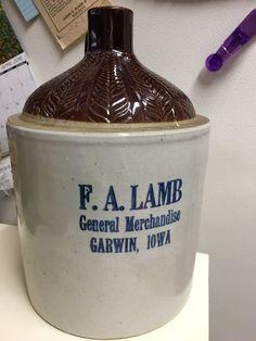 F A Lamb General Merchandise Garson Iowa Liquor Crock 2 Gallon | eBay
