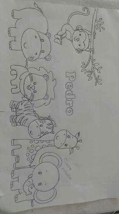 Pintura by Prika Reis Artesanato. Art Drawings Sketches Simple, Beautiful Drawings, Cute Drawings, Chalk Drawings, Beautiful Pictures, Baby Embroidery, Hand Embroidery Designs, Embroidery Stitches, Baby Drawing