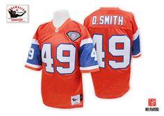 Denver Broncos #49 Dennis Smith Orange 75TH Throwback Jersey
