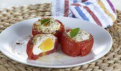 Ντομάτες γεμιστές με αυγά