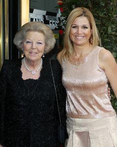 Prinses Beatrix en koningin Maxima
