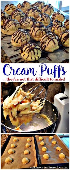 Homemade Cream Puffs | Easy Recipe | Step by Step Instructions | Walking on Sunshine