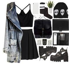 Party Outfit High School Jackets Best Ideas Source by Grunge Outfits, Emo Outfits, School Outfits, Cute Outfits, Fashion Outfits, Grunge Party Outfit, Grunge Goth, Estilo Grunge, Grunge Style