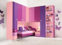 Italian design kids bedroom. Like it but I think I've already outgrown the colour scheme.