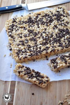 Chewy Chocolate Chip Granola Bars--tried; added raisins and they turned out crumbly.  Not sure if they needed to bake longer or if the raisins ruined them.