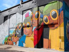 Hebru Brantley: Street Art, Russell at Adelaide, Detroit, MI Murals Street Art, Graffiti Murals, Street Art Graffiti, Mural Art, Wall Murals, Detroit Art, Amazing Street Art, Street Artists, Public Art