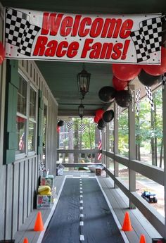 Cars Birthday Party. Entryway