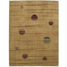 Nourison Parallels Collection Area Rug, Gold