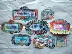 Funky Frames by Michelle Remy; Lost Coast Post: ICAD 2015: Cards 43 - 49