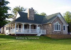 Plan W5709HA: Country, Sloping Lot, Cottage, Vacation, Corner Lot, Photo Gallery House Plans & Home Designs