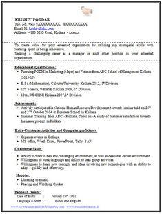 mba finance fresher resume template 2 career pinterest