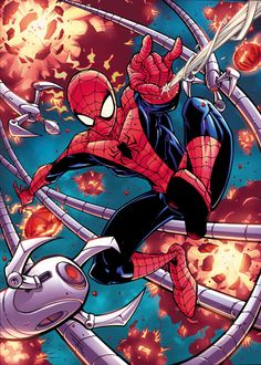 #Spiderman #Fan #Art. (Spider-Man VS Doctor Octopus) By: Jonboy Meyers. (THE * 5 * STÅR * ÅWARD * OF: * AW YEAH, IT'S MAJOR ÅWESOMENESS!!!™) ÅÅÅ+