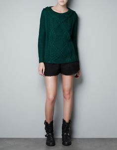 CABLE KNIT JUMPER - Knitwear - Woman - ZARA United States