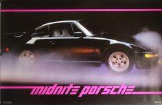 Midnite Porsche 23x35 Automotive Poster 1985 by GDEvintage on Etsy